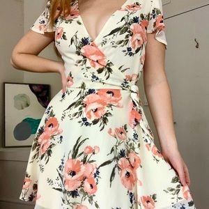 Abercrombie & Fitch Floral Wrap Dress